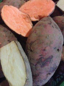 Süßkartoffeln dreierlei Sorten